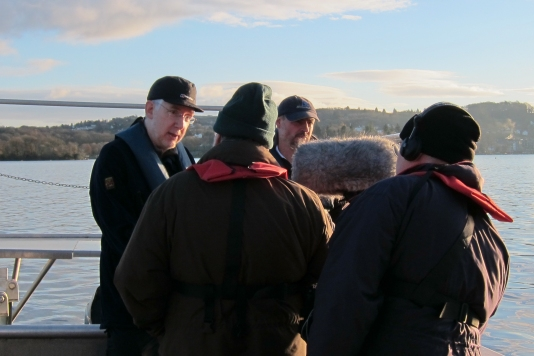 Ian talking to a local radio station on Lake Windemere, where Arctic Charr populations are now more stable