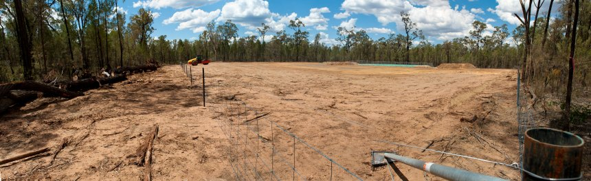 While reducing feral cat populations could help local wildlife, reducing habitat fragmentation - caused here by land clearing for a coal seam gas well - would arguably help much more