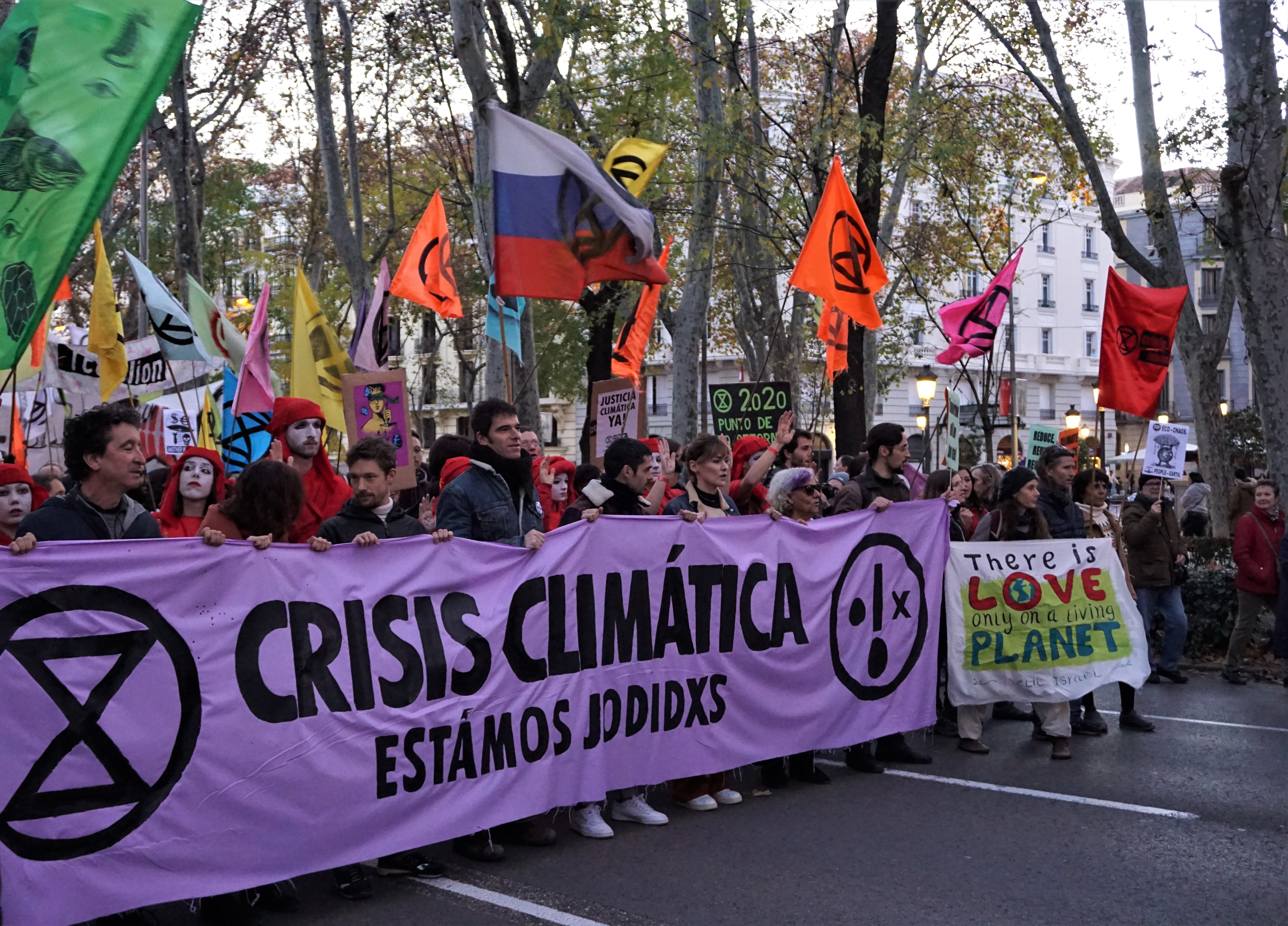 Climate March in the streets of Madrid on December 6th 2019 (Image Credit: Julia Ramsauer)